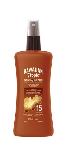 Hawaiian Tropic Touch of Colour Spf 15 Tinted Sunscreen Spray Lotion - image 1 of 1