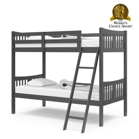 - Stork Craft Caribou Grey Bunk Bed Walmart.ca