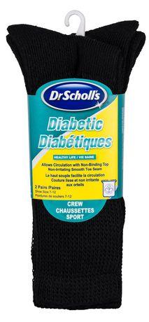 Dr.Scholl's Dr. Scholl's Men's Diabetic Crew Socks - 2 Pairs - image 2 of 2
