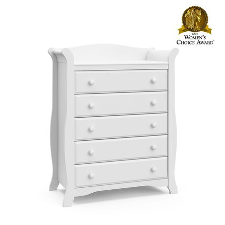 Storkcraft Avalon 5 Drawer Dresser – Easy New Assembly Process, Universal Design, Durable Steel Hardware and Euro-Glide Drawers with Safety Stops, Coordinates with Any Nursery - image 1 de 5