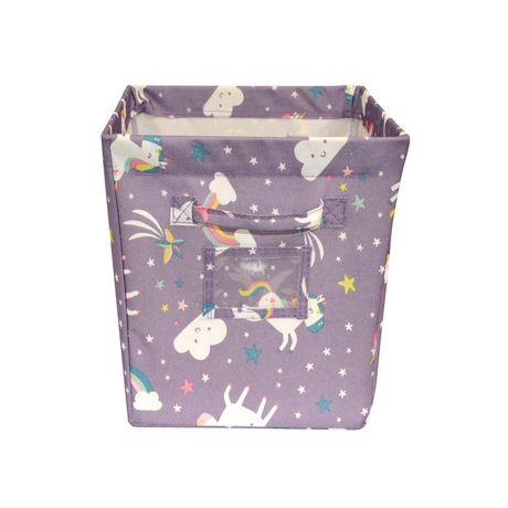 Mainstays Kids Storage Bin - Unicorn Pink - image 2 of 3