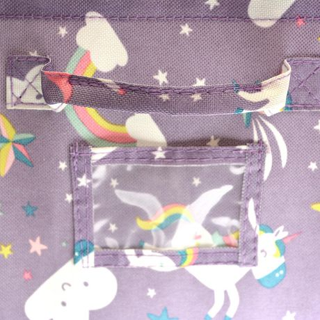 Mainstays Kids Storage Bin - Unicorn Pink - image 3 of 3