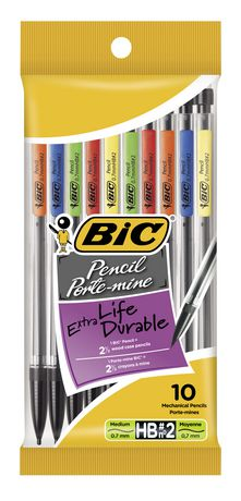 BIC Extra-Smooth Mechanical Pencil, Medium Point (0.7mm), 10 Count - image 1 of 5