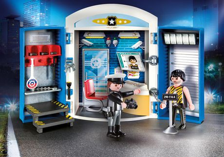 playmobil city action police station play box construction play set - Playmobile Police
