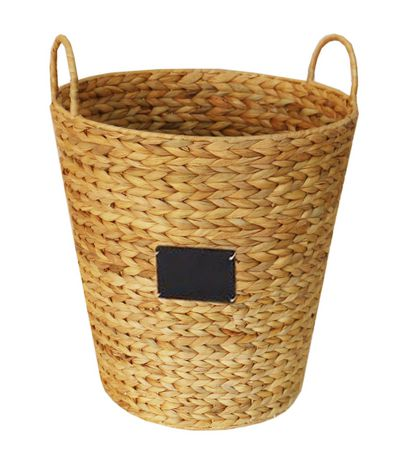 hometrends Water Hyacinth Basket with Chalk Label