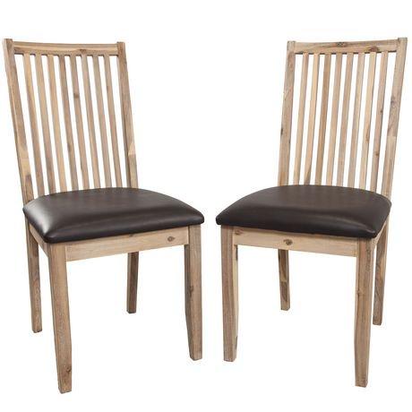 Ens chaises de salle manger traditionnelles piper de for Chaise de salle a manger walmart