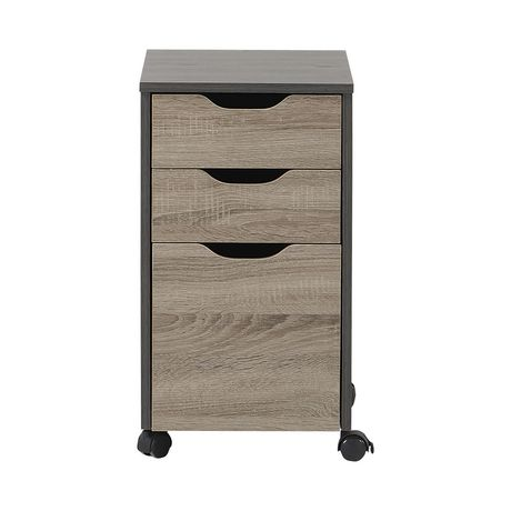 Homestar Reclaimed Wood Finish Filing Cabinet with 3 Drawers ...