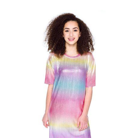 Girls Mini Pop Kids Colorful Shift Dress - image 4 of 6