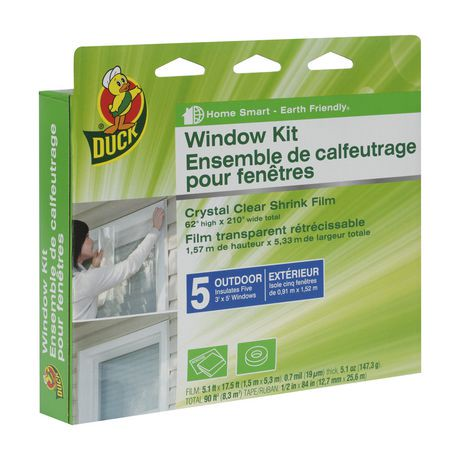 Duck brand outdoor window insulation kit walmart canada for Window insulation kit