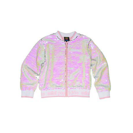 Girls Mini Pop Kids Flip Sequins Bomber Jacket - image 5 of 6