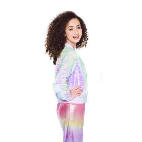 Girls Mini Pop Kids Flip Sequins Bomber Jacket - image 2 of 6