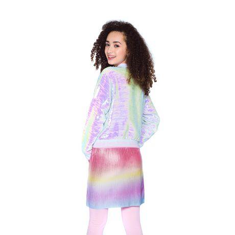 Girls Mini Pop Kids Flip Sequins Bomber Jacket - image 3 of 6