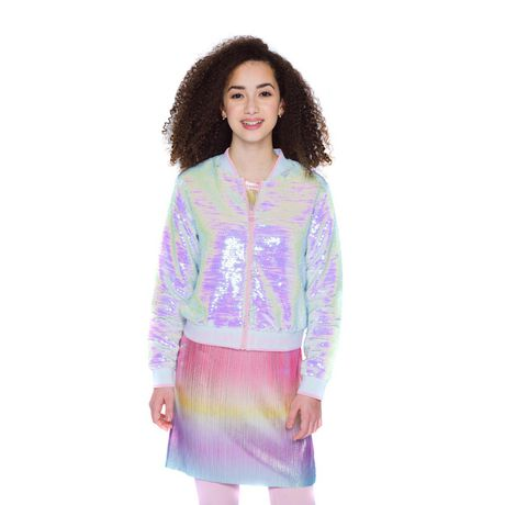 Girls Mini Pop Kids Flip Sequins Bomber Jacket - image 4 of 6