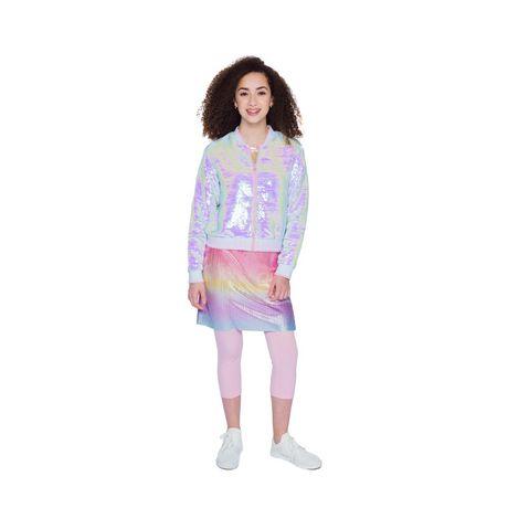 Girls Mini Pop Kids Flip Sequins Bomber Jacket - image 1 of 6