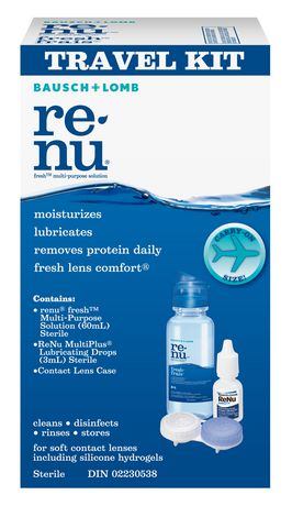 f744134a193 Bausch   Lomb Renu Fresh Multi-Purpose Solution Travel Kit - image 1 ...