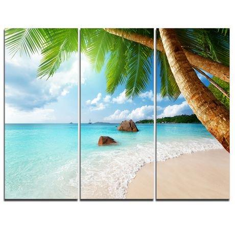 tableau sur toile imprim e design art photographie bord de mer isle de seychelles walmart canada. Black Bedroom Furniture Sets. Home Design Ideas