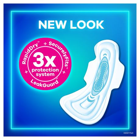 Always Maxi Size 5 Extra Heavy Overnight Pads with Wings - image 8 of 8