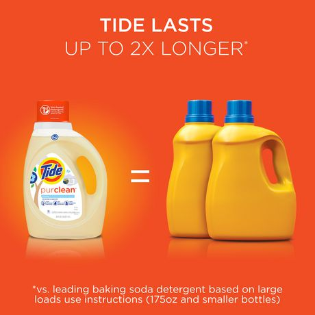 tide purlean liquid laundry detergent for regular and he washers unscented