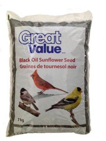 Graines de tournesol noir 7 kg de Great Value - image 1 de 1