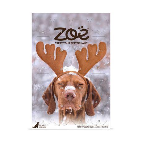 Zoe Dog Holiday Calendar with Festive Maple Bacon Treats - image 1 of 4