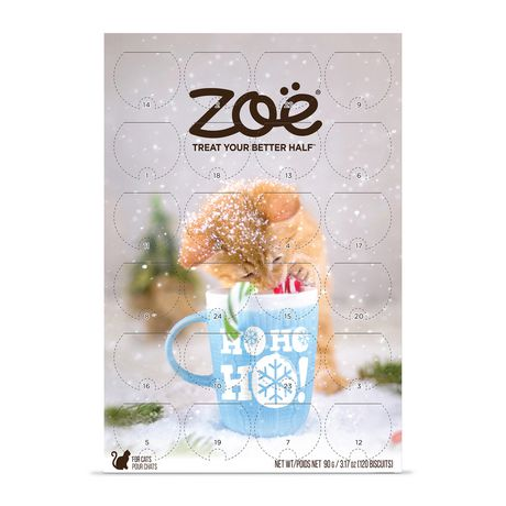 Zoe Cat Holiday Calendar with Festive Chicken Flavor Treats - image 1 of 1