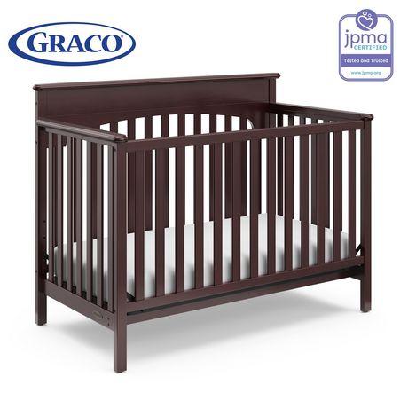 Graco Lauren 4 In 1 Convertible Crib   Espresso