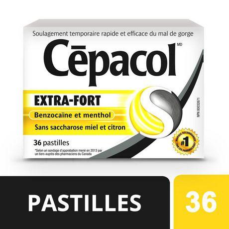 CépacolMD EXTRA-FORT sans saccharose au miel et au citron, paquet économique, 36pastilles contre le mal de gorge - image 5 de 5