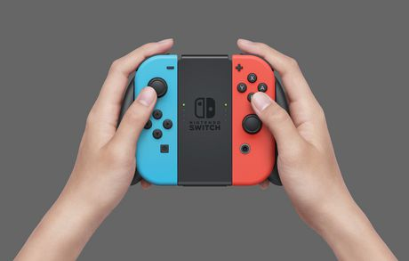 Nintendo Switch Console with Neon Blue and Neon Red Joy-Con - image 5 of 8