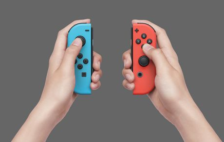 Nintendo Switch Console with Neon Blue and Neon Red Joy-Con - image 7 of 8