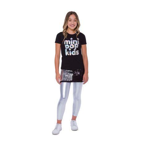 Girls Mini Pop Kids Irridescent Foil T Shirt - image 1 of 7
