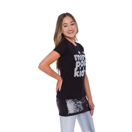 Girls Mini Pop Kids Irridescent Foil T Shirt - image 2 of 7