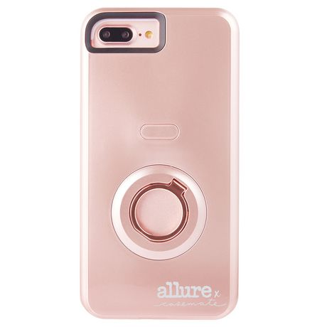 check out 08e99 9e786 Case-Mate Allure Selfie Case iPhone 7 Plus Rose Gold
