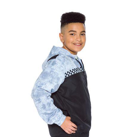 Boys Mini Pop Kids Checker Nylon Jacket - image 2 of 7