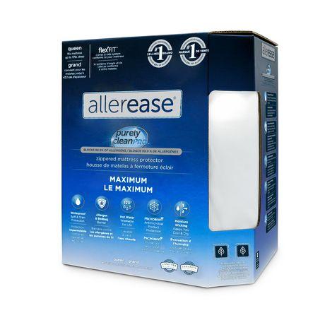 Protège-matelas anti-allergies et anti-punaises de lit AllerEase, à fermeture éclair, imperméable - image 1 de 6