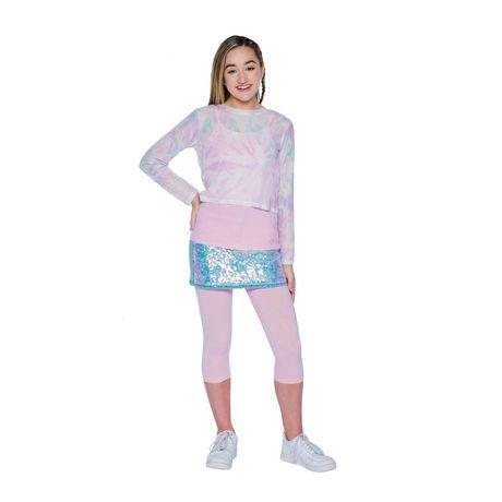 Girls Mini Pop Kids Long Sleeve Mesh Two Piece Top - image 1 of 6