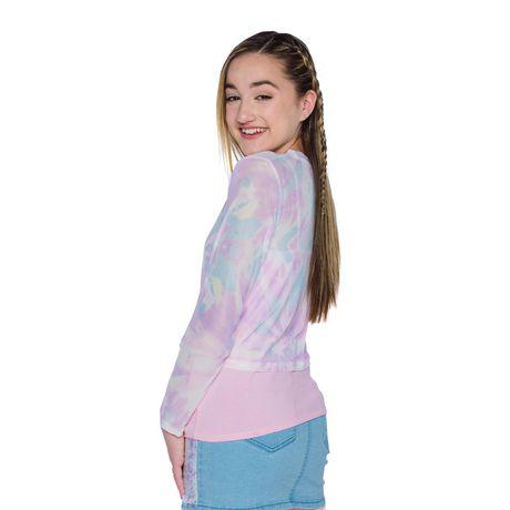 Girls Mini Pop Kids Long Sleeve Mesh Two Piece Top - image 2 of 6