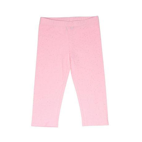 Girls Mini Pop Kids Sparkle Pink Capri Legging - image 5 of 7