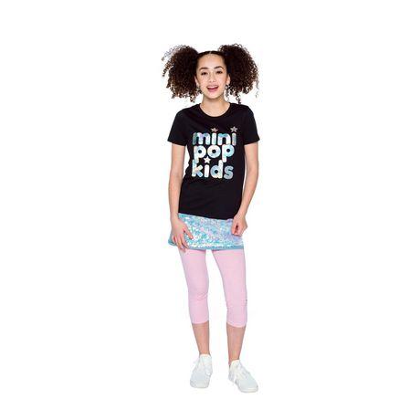 Girls Mini Pop Kids Sparkle Pink Capri Legging - image 1 of 7