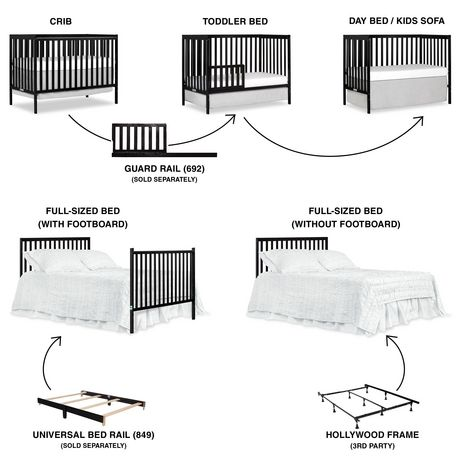 Dream On Me Synergy 5-in-1 Convertible Crib - image 2 of 9