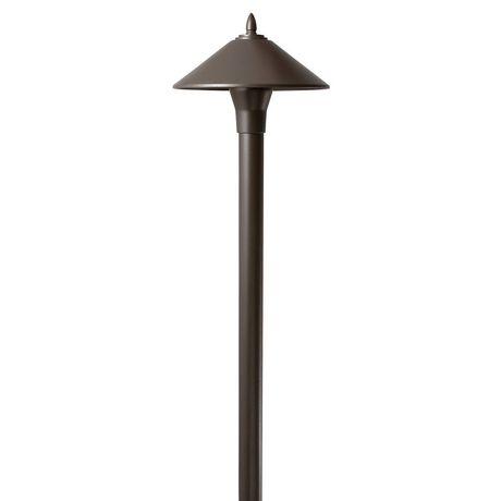 luminaire de chemin halog ne finition de laiton vieilli en fonte d 39 aluminium de 10 w basse. Black Bedroom Furniture Sets. Home Design Ideas