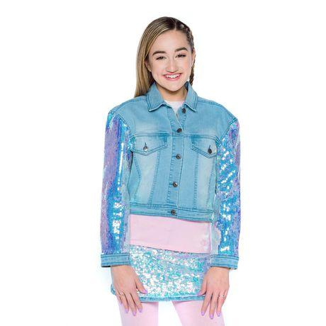 Girls Mini Pop Kids Denim Glow Jacket - image 4 of 7