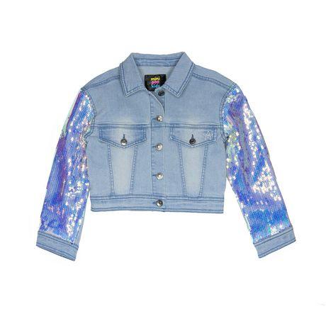 Girls Mini Pop Kids Denim Glow Jacket - image 5 of 7