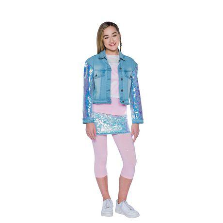 Girls Mini Pop Kids Denim Glow Jacket - image 1 of 7