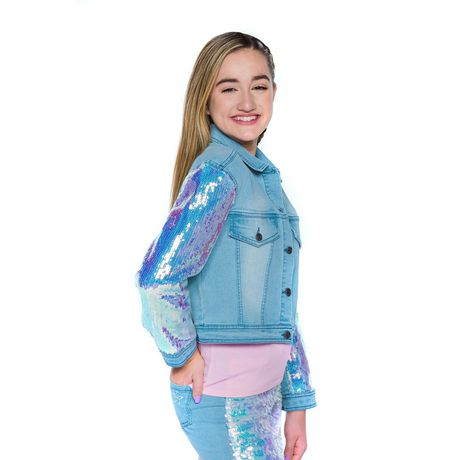 Girls Mini Pop Kids Denim Glow Jacket - image 2 of 7