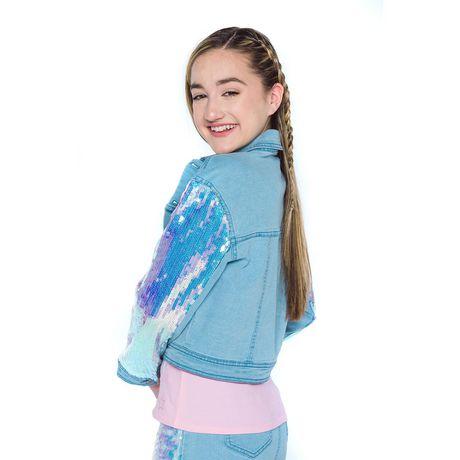 Girls Mini Pop Kids Denim Glow Jacket - image 3 of 7