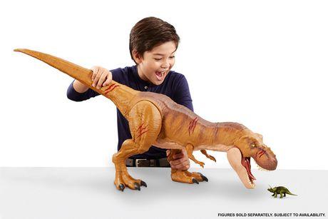 Jurassic World Battle Damage Roarin' Super Colossal Tyrannosaurus Rex Figure - image 6 of 9
