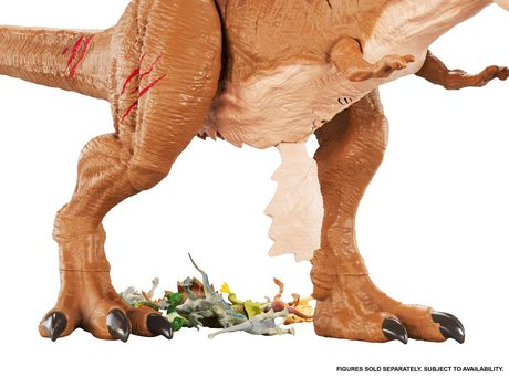 Jurassic World Battle Damage Roarin' Super Colossal Tyrannosaurus Rex Figure - image 7 of 9