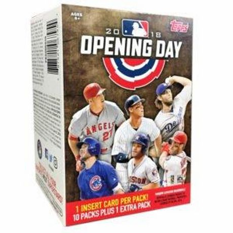 18 Topps Opening Day Baseball Value Box Trading Cards