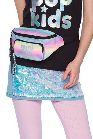 Girls Mini Pop Kids Multicolor glitter Fanny Pack - image 2 of 5