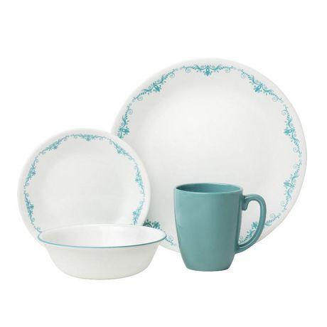 sc 1 st  Walmart Canada & Corelle® Garden Lace Dinnerware Set 16pc | Walmart Canada